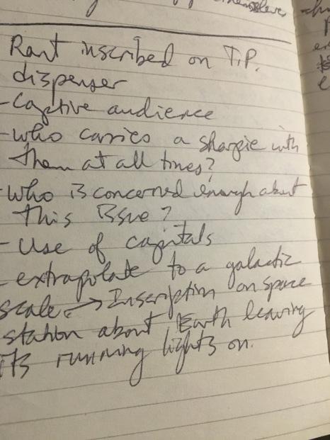 rant notes