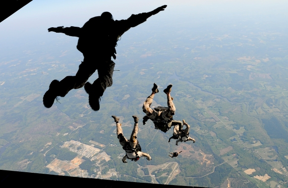 Joint training at 12,500 feet