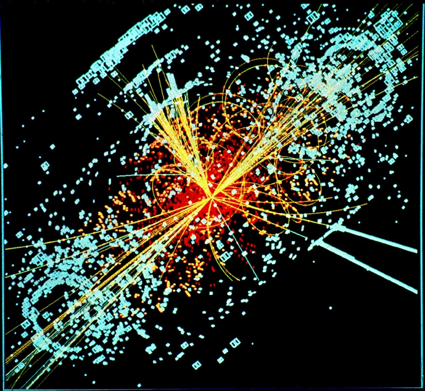 Higgs boson decaying into hadron jets and electrons