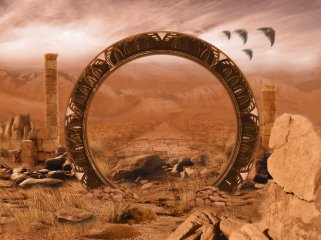 painting of a stargate