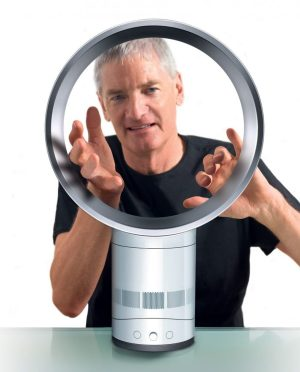 james dyson's hands being sucked into air multiplier
